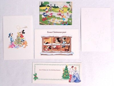P479. Vintage Lot of 5: Disney Productions CHRISTMAS CARDS & Picnic Post Card [