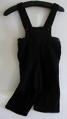 Vintage Antique Black Boys Overalls Pants