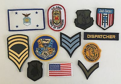 Vintage Lot Of 12 MILITARY US PATCHES Rapid Deployment Force Air National Guard