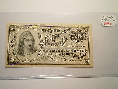 25 CENT STORE NOTE N.Y. AND EAST TENNESEE IRON Co.