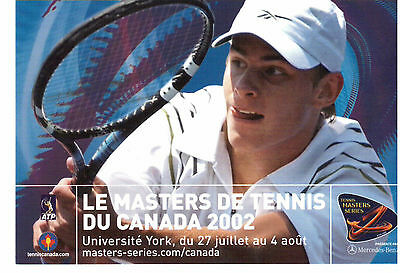 2002 Tennis Masters Cup, Men Championship Advertising Photo-Card !!