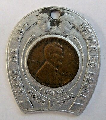 1946 ENCASED CENT TOKEN White Way Pharmacy OVERBEND PARK CLEVELAND Ohio 2-8166