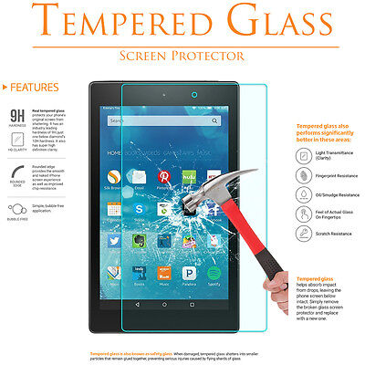 3Pack GLASAVE Amazon Fire HD 10 Tablet 2017 Tempered Glass Screen Protector