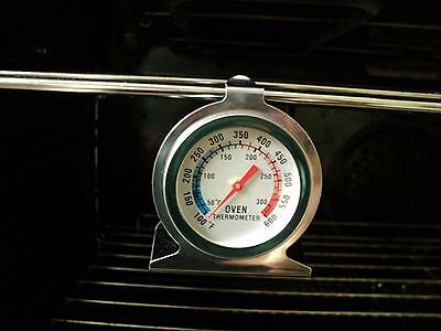Savisto Stainless Steel Oven Thermometer / Temperature Gauge For Pizza Ovens A