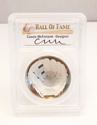 2014 P US Mint Baseball Hall of Fame PCGS GEM Proof $1 SIlver Coin ~ Free Ship