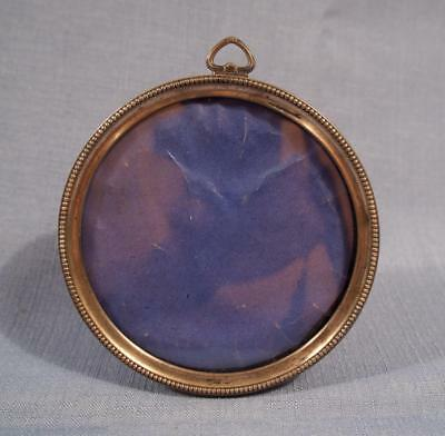 Vintage Round Sterling Silver Picture Frame