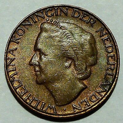 Rare 1948 Netherlands 1 Cent KM#175 About Uncirculated No Reserve!