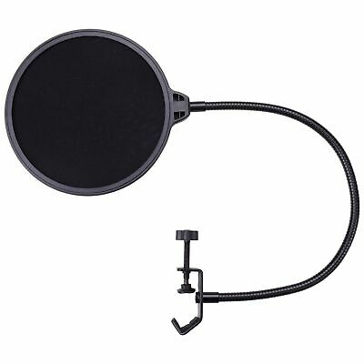 Recording Studio Microphone Pop Filter Mic Wind Screen Mask Shield Double Layer