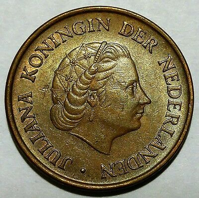 Rare 1967 Netherlands 5 Cents KM#181 About Uncirculated No Reserve!