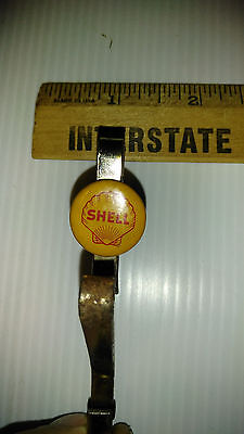 Vintage SHELL OIL Service Station ADVERTISING Petroliana Clothes Uniform Hanger
