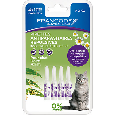 Pipette insectifuge chat - 4 x 0,6 ml