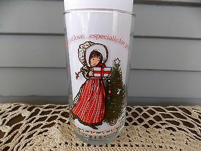 Vintage Holly Hobbie Gift of Love Limited Edition Coca Cola Coke Drinking Glass