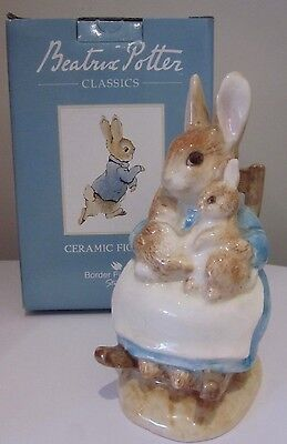 MRS RABBIT and BABIES Beatrix Potter porcelain figurine BOX Border Fine Arts