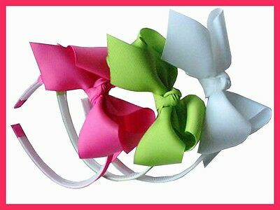 "50 BLESSING Good Girl Boutique Headband 5.5"" ABC Hair Bow"