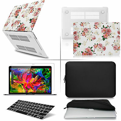 "[4-IN-1 Bundle] Rubberized Case Waterproof Bag LCD KB For Macbook Pro 13""A1708"