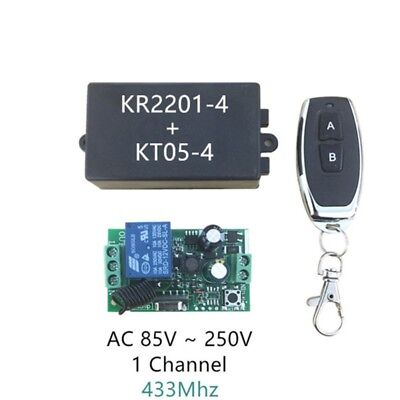 AC 220V 433MHz Wireless Remote Control Switch 1CH RF 1 Relay Light Controller