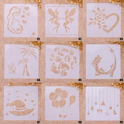 New Airbrush Painting Stencil DIY Home Decor Scrapbooking Album Craft Art Useful