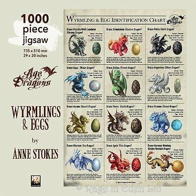 *WYRMLING and EGG* Age Of Dragons Jigsaw Puzzle By Anne Stokes (1000 Pieces)