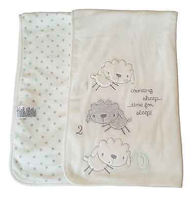 Baby Blanket Wrap Newborn Unisex White Boy Girl 100% Cotton Gift