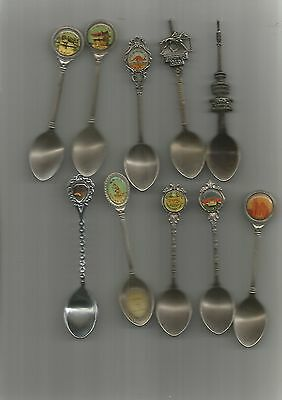 Souvenir Spoons 10 Mixed,Nice, See Scan
