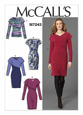 McCalls SEWING PATTERN M7243 Misses Top & Dresses 4-12 Or 12-20