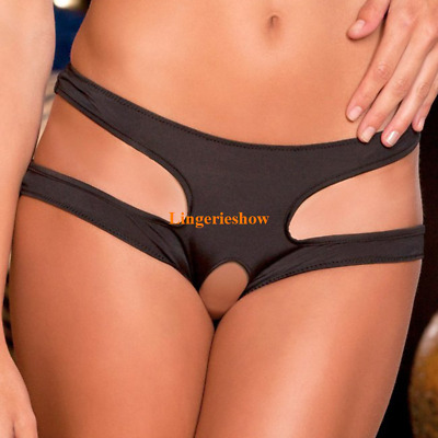 Plus Size Sexy Women Underwear Crotchless Lingerie Knickers Thongs Panties M-6XL