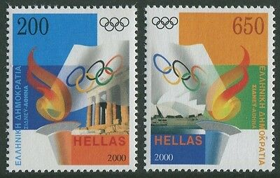 Greece - Sydney/ Athens Olympic Handover 2000 - Mnh Set Of Two (R24-Rr)