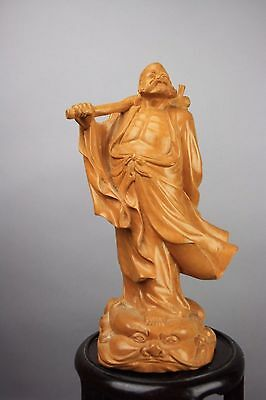 20th C. CHINESE WOOD CARVED LOHAN