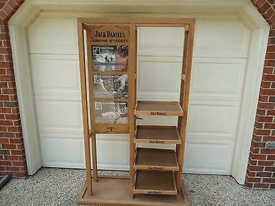 100% original authentic Jack Daniels whiskey wood store display stand case