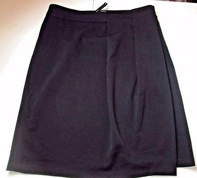 NWT GRACE ELEMENTS Black Stretch Wrap Skirt Size 10