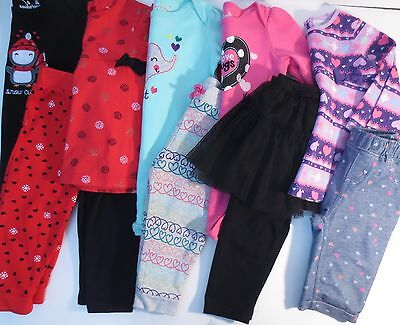 Jumping Beans Toddler Girls Size 18 Months Clothes Outfits Shirts Pants LOT