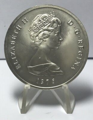 1976 Turks And Caicos Victoria 20 Crowns Silver*E