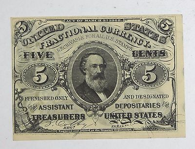 US Fractional Currency 5-Cents Note 3rd Issue Green Back Nice CRISP UNC