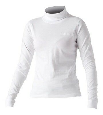 Catmandoo Roll Neck / Cotton Golf Base Layer Skin Plain White 8 ,10 ,14 ,16 New
