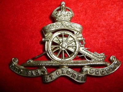 The Royal Artillery Territorials KC Cap Badge, pin-back
