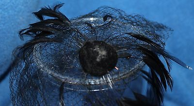 One Vintage Women's Vale Only Black with Feathers