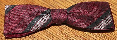 Vintage Royal Rust Restraint Bow Tie Red Black Striped