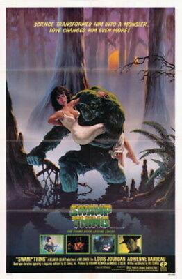 The Swamp Thing Adrienne Barbeau Cult Classic Original Movie Poster
