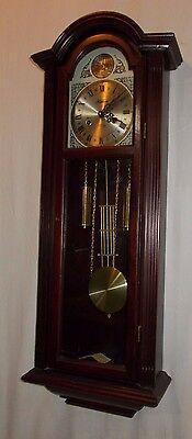 31 Day HIGHLANDS Pendulum WALL Clock In WOODEN Case LARGE