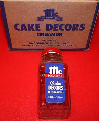 Vintage 1950's 1960s McCormick Cake Decors CINNAMON Old Store Stock MIP mint NOS