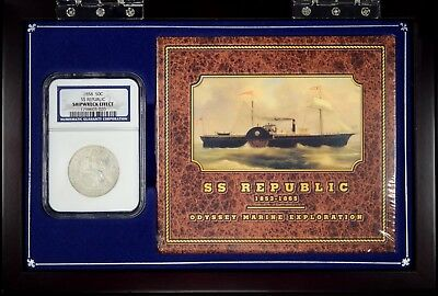 1858  SEATED HALF SS REPUBLIC 50c  *  NGC  Shipwreck Effect  *  #1798603-020