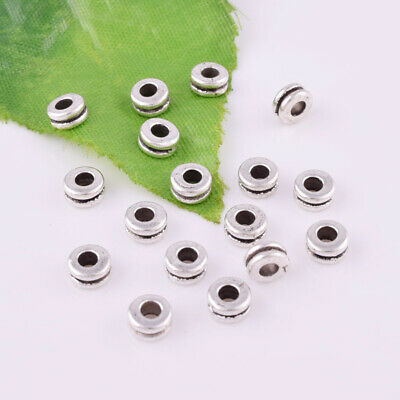 Tibetan Silver Spacer Beads Charm Metal Round Jewelry Finding 5x2mm Wholesale
