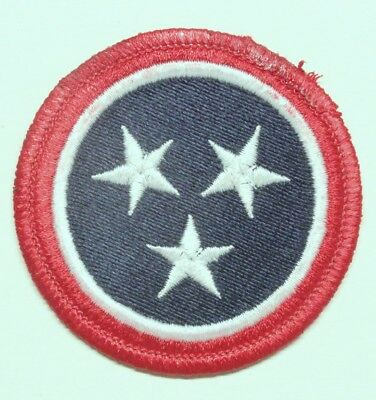 """Army Patch:  Tennessee Defense Force (modern) - 2 1/2"""" merrowed edge"""