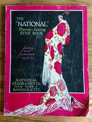 "Antique ""National"" Cloak & Suit Co Style Book Catalogue 1925 SS New York Fashion"