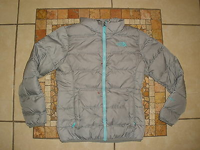 Girls THE NORTH FACE nuptse hyvent 550 DOWN ski puffer Jacket Medium 10-12