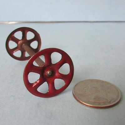 Original Tin Red WHEEL & Axle for Glass CANDY CONTAINER Auto Car