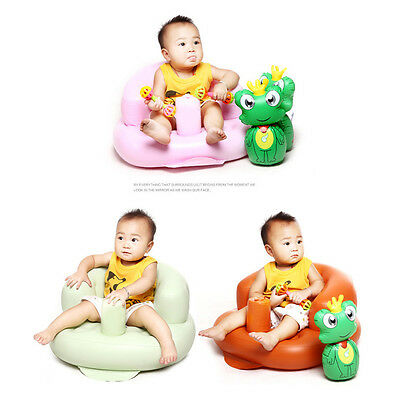 New PVC Inflatable Baby SofaKids Learn stool Training seat Bath Dining Chair