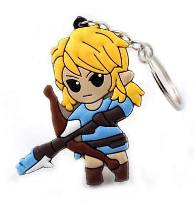 The Legend of Zelda Princess Silicone Rubber Keychain Key Ring KeyRing Pendant~