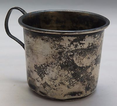 ANTIQUE HANDMADE STERLING SILVER SMALL CUP 33.6 Grams