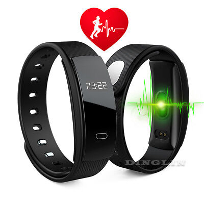 QS80 Bluetooth Smart Watch Bracelet Heart Rate Blood Pressure Fitness Tracker